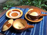 6月の新入荷 湯町焼のエッグベーカー、愛知県 手打ちの真鍮のお玉